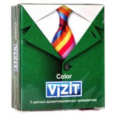 Презервативы VIZIT new Color Цветные ароматизированные 3шт