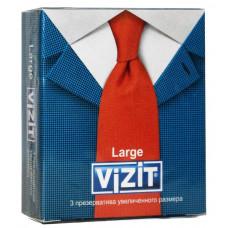 Презервативы VIZIT new Large Увеличенного размера 3шт (Срок 11.2018)