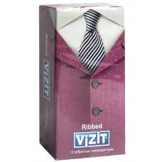 Презервативы VIZIT new Ribbed С кольцами 12шт