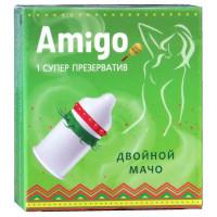 Презерватив Amigo Двойной Мачо 1шт  (супер шипы)