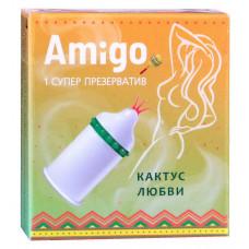Презерватив Amigo Кактус любви 1шт (супер шипы)