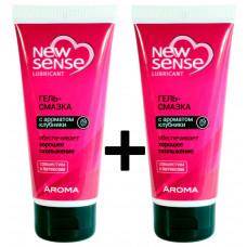 Комплект гелей Биокон NewSense Aroma 2шт, 2*100 мл с ароматом клубники
