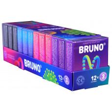 Блок презервативов Bruno №36 (3 пачки 4 вида по 3шт)
