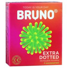 Презервативы Bruno 3шт Extra Dotted увеличенные точки