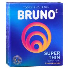 Презервативы Bruno 3шт Super Thіn Ультратонкие
