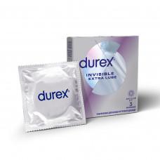 Презервативы DUREX №3 Invisible ExtraLube с дополнительной смазкой