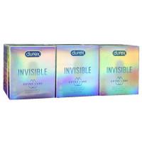 Блок презервативов Durex 12 пачек №3 Invisible ExtraLube с дополнительной смазкой