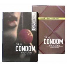 Презервативы EGZO Oral 3шт (cо вкусом и ароматом ШОКОЛАДА, для ОРАЛЬНОГО секса)
