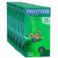 Блок презервативов FREESTYLES №72 Max Pleasure точечные (6 пачек по 12шт)