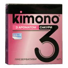 Презервативы Kimono №3 С ароматом сакуры