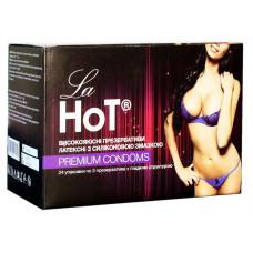 Блок презервативов LaHot №72 гладкие (24 пачки по 3шт) КОНВЕРТ