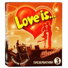 Презервативы Love is... №3 шоколад (комикс внутри)