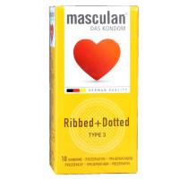 Презервативы Masculan Ribbed+Dottted 10шт
