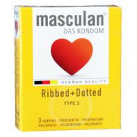 Презервативы Masculan Ribbed+Dottted 3шт