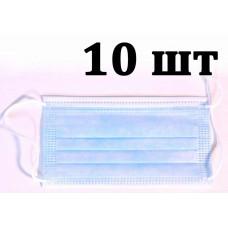 Маска медицинская нестерильная трехслойная ТетаФарм 10 шт