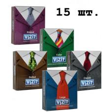 Пробный комплект ТМ VIZIT №15 (5 видов презервативов по 3 шт)