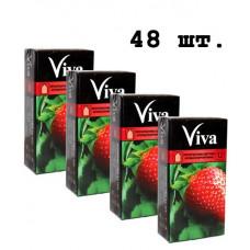 Блок презервативов Viva Цветные ароматизированные №48 (4 пачки по 12 шт)