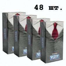Блок презервативов VIZIT №48 Classic Классические (4 пачки по 12 шт)