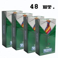 Блок презервативов VIZIT №48 color Цветные ароматизированные (4 пачки по 12 шт)