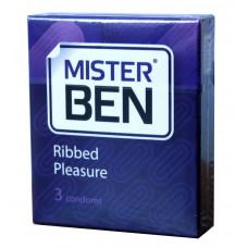 Презервативы Mister Ben ribbed pleasure №3 ребристые