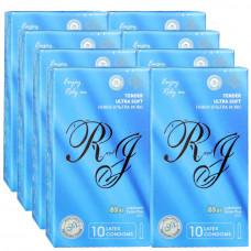 Презервативы R and J Tender ультра мягкие с обильной смазкой 80шт (8 пачек по 10шт)