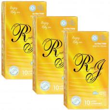 Презервативы R and J Ultra Thin ультратонкие 30шт (3 пачки по 10шт)