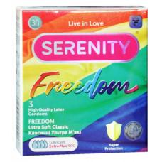 Презервативы Serenity Freedom с обильной смазкой 3шт