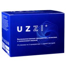 Блок презервативов UZZI гладкие 72шт (24 пачки по 3шт) КОНВЕРТ